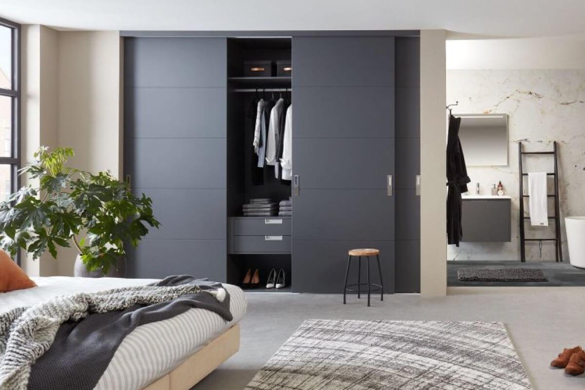 Horizontale structuur moderne stijl garderobekast